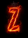 Fire letter Z Royalty Free Stock Photos