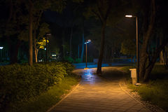 The fire light walk Stock Image