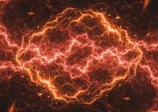 Fire lightning ball,. Abstract hot plasma Stock Photos