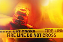 Fire Line Do Not Cross Στοκ εικόνες με δικαίωμα ελεύθερης χρήσης