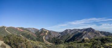The fire line, gibraltar road Santa Barbara California stock photos