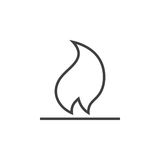 Fire line icon, flame outline  logo illustration, linear p. Ictogram isolated on white Royalty Free Stock Image