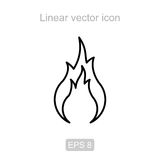 Fire. Linear  icon. Icon of the fire in a linear style Stock Photo