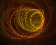 Fire Lines. Computer generated fractal illustration of swirling fiery lines on black Royalty Free Stock Image