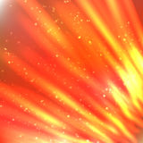 Fire lines with sparkles on blurred background. Bright shining fire lines with sparkles on blurred background. Vector illustration for your design Royalty Free Stock Photo