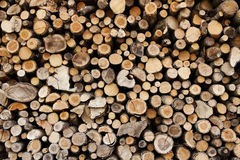 Fire log woods. Dry fire log wood stack Stock Photo