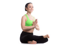 Fire Log yoga Pose Stock Image