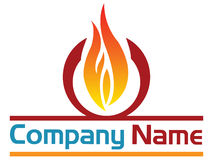 Fire logo Stock Image