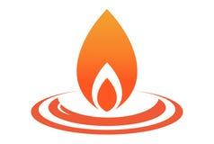 Fire logo logo dsign. Fire logo logo vector dsign concept Royalty Free Stock Photo