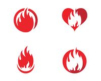 Fire Logo Template vector illustration. Fire flame Logo Template vector illustration Royalty Free Stock Images