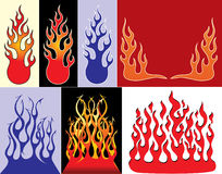 Fire logos. Set of fire logos illustration for your choose Stock Photo