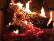 Fire logs Royalty Free Stock Photography