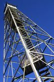 Fire lookout tower. Low angle view of fire lookout tower in Dover, Florida Stock Image