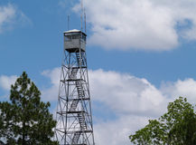 Fire Lookout Tower in South Georgia royalty free stock photos