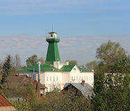 Fire lookout tower. Suzdal. Fire lookout tower in Suzdal. Gold Ring. Russia. A fire lookout tower (fire tower) provides housing and protection for a person Royalty Free Stock Photos