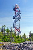 A Fire Lookout tower in the wilderness Stock Images