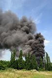 A fire at a lorry depot, in Awsworth Stock Photo