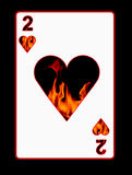 Fire of love card. Playcard, showing the fire and heat of love Stock Photo