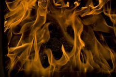 Fire, love flames, frame Stock Image
