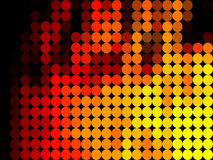 Fire  low poly circle style vector mosaic. Background Royalty Free Stock Photo