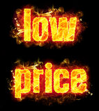 Fire Text Low Price Stock Photography