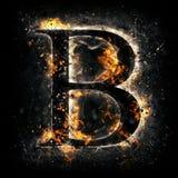 Fire märker B royaltyfri foto