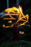 Fire, magic and mystery. A mystery fire dancing with abstarct forms Stock Photo