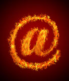 Fire mail Royalty Free Stock Photo