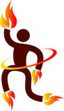 Fire man. Illustration art of a fire man with isolated background Stock Image