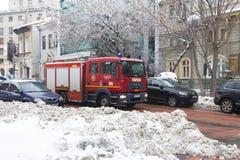 Fire man car Stock Images