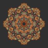 Fire mandala. Bright fire mandala on a dark grey background Stock Photography