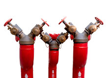 Fire manifold. Isolate on white background Stock Photos