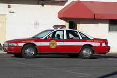 Fire Marshal's Car. Car assigned to town Fire Marshal stock images
