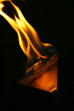 Fire on martini glass Royalty Free Stock Image