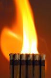 Fire Match Stock Photo