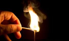 Fire match Stock Images