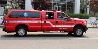 Fire Medic Vehicle Stock Photography