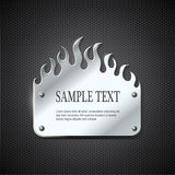 Fire metal sign. Silver fire metal sign eps10 Stock Image