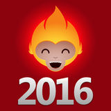 2016 Fire Monkey. Chinese new year Stock Photo