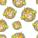 Fire Monkey Seamless Four. Seamless texture of the fire monkey on a white background Stock Images