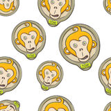Fire Monkey Seamless Texture Two. Seamless texture of the fire monkey on a white background Royalty Free Stock Image