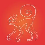 Fire Monkey Silhouette New Year Sign Asian Royalty Free Stock Images