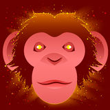 Fire Monkey symbol 2016. Illustration in vector format Stock Photos