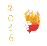 Fire Monkey symbol 2016. Illustration. Fire Monkey symbol 2016 on white background. Illustration Royalty Free Stock Photos