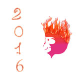 Fire Monkey symbol 2016. Illustration. Fire Monkey symbol 2016 on white background. Illustration Stock Image