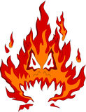 Fire monster Stock Photography