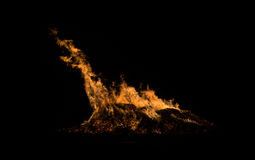 Fire Monster. A bonfire takes the shape of a monster Royalty Free Stock Image