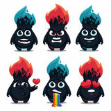 Fire monsters Royalty Free Stock Photo