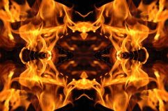 Fire mosaic stock photography