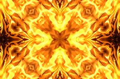 Fire mosaic Stock Image